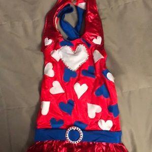 Custom red white blue costume